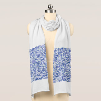 THE WEIMARANER AND THE BEE WHITE JERSEY SCARF