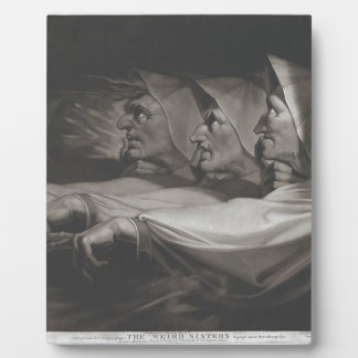 The Weird Sisters (Shakespeare, MacBeth) Plaque