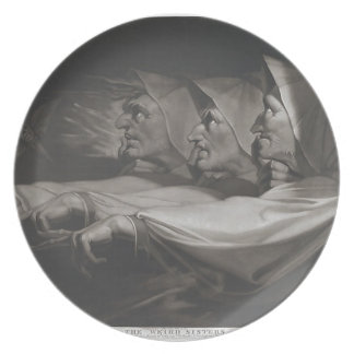 The Weird Sisters (Shakespeare, MacBeth) Plate