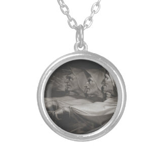 The Weird Sisters (Shakespeare, MacBeth) Silver Plated Necklace