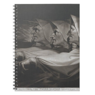 The Weird Sisters (Shakespeare, MacBeth) Spiral Notebook