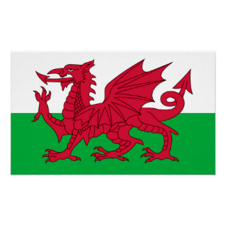 The Welsh Flag Posters