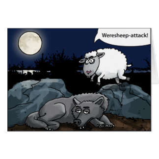 the weresheep attacks the wolf card