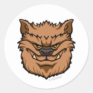 The Werewolf (Brown) Classic Round Sticker