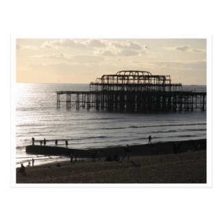 The West Pier in Hove Postcard
