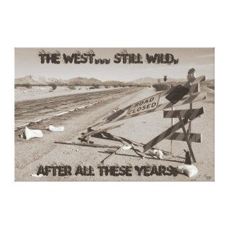 The West - Still Wild Canvas Print