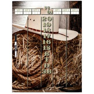 The Western Darts Scoreboard Dry-Erase Whiteboards