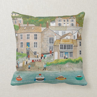 The Wharf at Mousehole Throw Pillow