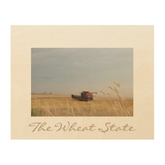 The Wheat State Wood Wall Art