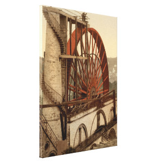 The Wheel, Laxey, Isle of Man, England Canvas Print