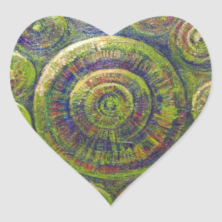 The Wheels (religious geometric symbolism) Heart Sticker