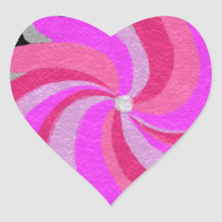 the whirl heart sticker