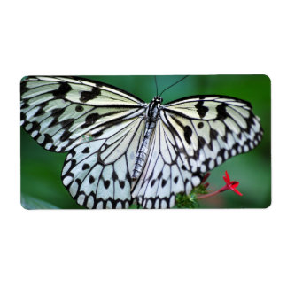 The White Butterfly Personalized Shipping Label