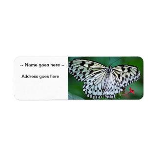 The White Butterfly Custom Return Address Label