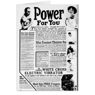 The White Cross Electric Vibrator Card