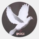 The white dove of Peace Classic Round Sticker