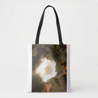 The White Flower Tote Bag