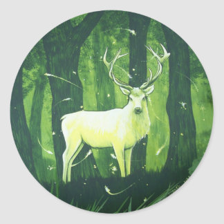 The White Hart Classic Round Sticker