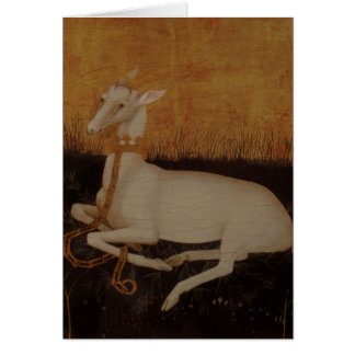 The White Hart Stag Card