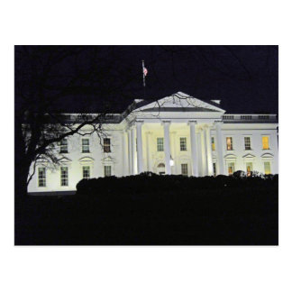 The White House at Night Washington DC 002 Postcard