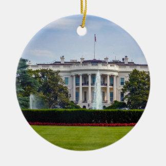 The White House Ceramic Ornament