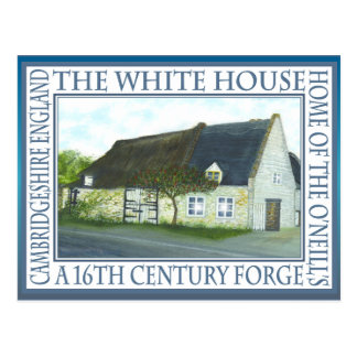"""THE WHITE HOUSE,FORGE"" by Brigid O'Neill Hovey Postcard"