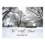 The White House on a snowy day, Washington DC Postcards