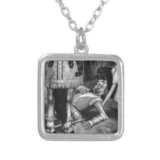 The White Knight Falls Silver Plated Necklace