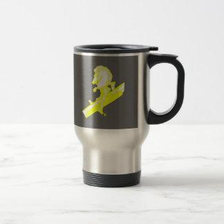 The White Knight in Banana Yellow Travel Mug