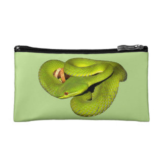 The white-lipped pit viper makeup bags