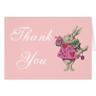 The White Rabbit - Alice in Wonderland - Thank You Greeting Card