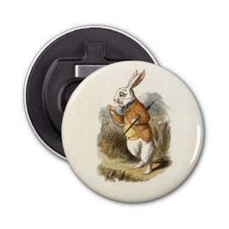 The White Rabbit Button Bottle Opener
