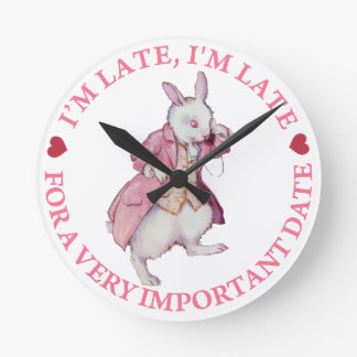 The White Rabbit From Alice in Wonderland Wall Clocks