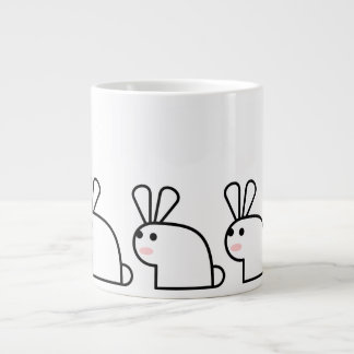 The White Rabbit (Multi) Large Coffee Mug