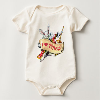The White Rabbit Proclaims His Love For Alice Baby Bodysuit