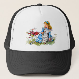 The White Rabbit races by Alice - he's late! Trucker Hat