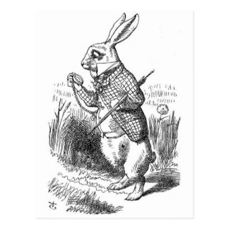 The White Rabbit with Watch Postcard