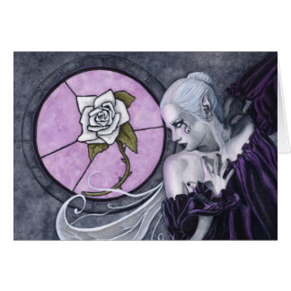 The White Rose card