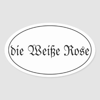 the white rose oval sticker