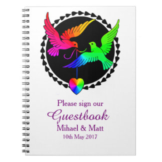 The Whole of the Rainbow Gay Wedding Guestbook Notebooks