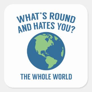 The Whole World Square Sticker