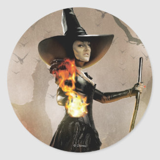 The Wicked Witch of the West 6 Round Sticker