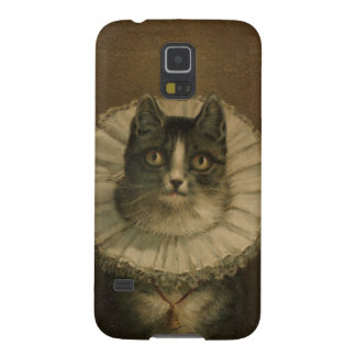 The Widow antique vintage cat painting kitten Galaxy S5 Case