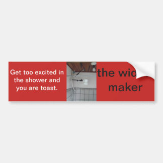 the widow maker bumper sticker