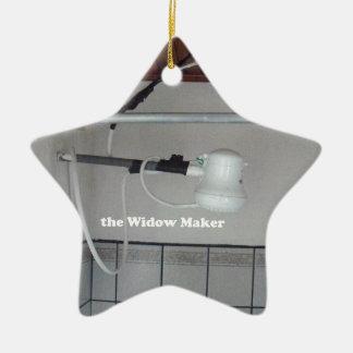 the widow maker ceramic ornament