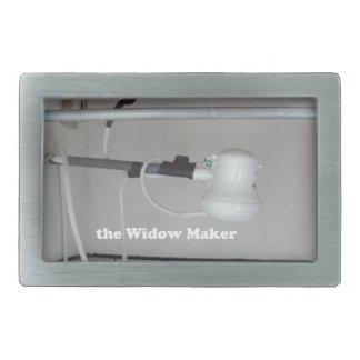 the widow maker rectangular belt buckles