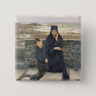 The Widow of the Ile de Sein, 1880 2 Inch Square Button