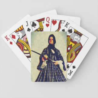 the widow playing cards