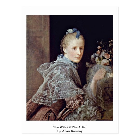 The Wife Of The Artist By Allan Ramsay Postcard