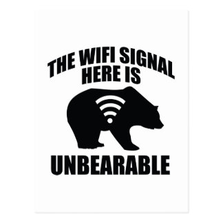 The Wifi Signal Here Is Unbearable Postcard